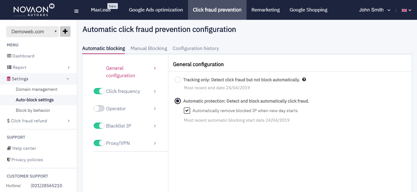 How does our Click fraud prevention product work?